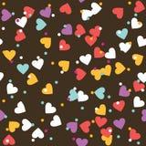 Colorful Sprinkles Donut Glaze Seamless Pattern Stock Photography