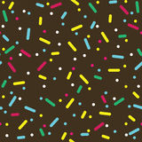Colorful Sprinkles Donut Glaze Seamless Pattern Royalty Free Stock Images