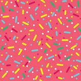 Colorful Sprinkles Donut Glaze Seamless Pattern Stock Image