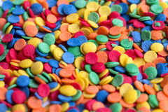 Colorful sprinkles dots Stock Images