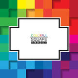 Colorful Square Abstract Background with Horizontal White Space for Text. Vector Design for Background Royalty Free Stock Image