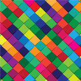 Colorful square abstract background Stock Image