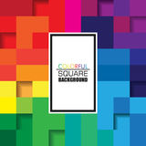 Colorful Square Abstract Background with Vertical White Space for Text. Vector Design for Background Stock Photography