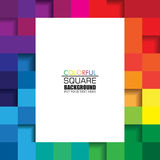 Colorful Square Abstract Background with White Space for Text. Royalty Free Stock Image