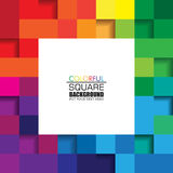 Colorful Square Abstract Background with White Space for Text. Royalty Free Stock Photography