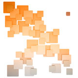Colorful square abstract pattern orange biege Stock Photography
