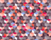 Colorful Square Background. Colorful Seamless Pattern with 3d Cubes. Pattern Illustration Vector Illustration