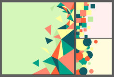 Colorful, square backgrounds in old style Royalty Free Stock Images