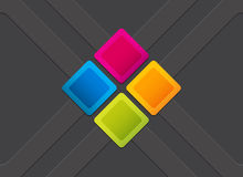 Colorful square blank background Stock Photo