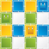 Colorful Square blank background Royalty Free Stock Photo