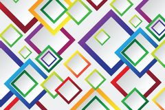 Colorful Square blank background Stock Image