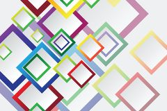 Colorful Square blank background Stock Photos