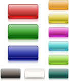 Colorful Square Buttons Blank Stock Photo