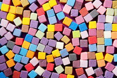 Colorful square foam cubes texture Stock Photography