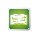Colorful square frame button with line text notebook open Stock Image