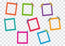 Colorful square frames. Vector illustration vector illustration