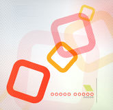 Colorful square geometric shape flat design Royalty Free Stock Photography