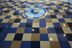 Square grid floor Royalty Free Stock Photos