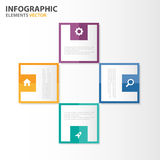 Colorful square Infographic presentation templates flat design set for brochure flyer leaflet marketing Royalty Free Stock Photography