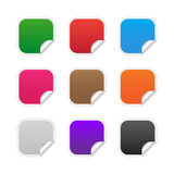 Colorful square labels. Collection of blank square labels in various colors Royalty Free Stock Image