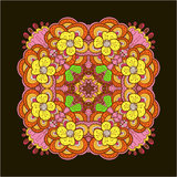 Colorful square lace design Stock Images