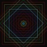 Colorful square line movement Stock Photos