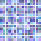 Colorful square mosaic vector background design. Blue, purple colorful square mosaic vector background design Royalty Free Stock Photos