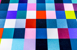 Colorful square pattern. Fabric textile texture Royalty Free Stock Photography