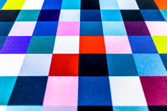 Colorful square pattern. Fabric textile texture Royalty Free Stock Images