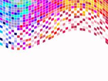 Colorful square pixel. Illustration of a colorful square mosaic Royalty Free Stock Images
