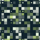 Colorful square pixel mosaic seamless pattern. Vector illustration Stock Photography