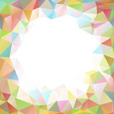 Colorful square polygon background or vector frame Stock Photo