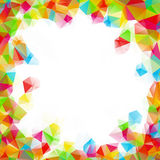 Colorful square polygon background or vector frame Royalty Free Stock Images