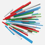 Colorful square rods abstract. 3d style vector illustration. Suitable for any banner, ad, technology and abstract themes Royalty Free Stock Photos