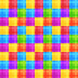 Colorful square seamless pattern. Vector wallpaper design Royalty Free Stock Photo