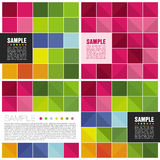 Colorful Square Templates Royalty Free Stock Photography