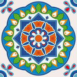 Colorful square tile Royalty Free Stock Image