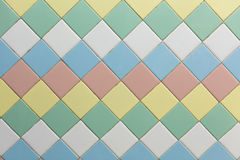 Colorful of square wall tiles background royalty free stock photo
