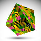 Colorful squared eps8 striped contrast object. Symmetric rectang Stock Images