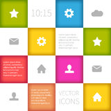 Colorful squared infographic concept design Stock Photography