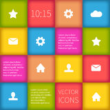Colorful squared infographic ui design Royalty Free Stock Image