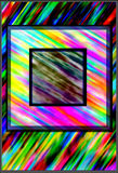 Colorful background with square frames superposed Stock Image