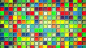 Colorful squares abstract background Stock Images