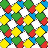 Colorful squares as seamless pattern. Illustration vector illustration