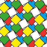 Colorful squares as seamless pattern. Illustration royalty free illustration