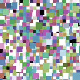 Colorful Squares Background. Unique colorful, bright and vivid background design pattern of random multiple squares or pixels Stock Photography