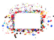 Colorful squares Beads Decoration. Beautiful Colorful squares Beads Decoration on Background Royalty Free Stock Image