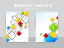 Colorful squares flyer template Stock Photos