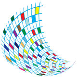 Colorful Squares flying effect. Colorful square with flying effect isolated on white, vector art work vector illustration