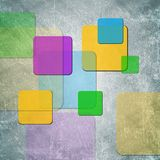 Colorful squares on grunge backdrop Stock Photography